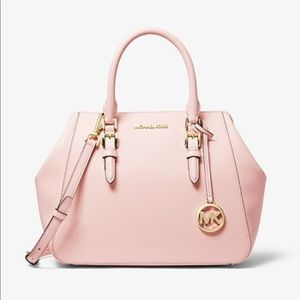 Michael kors large leather satchel pink